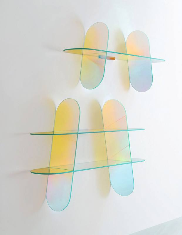 Patricia Urquiola for Glas Italia glass Shimmer shelves, from £1,897