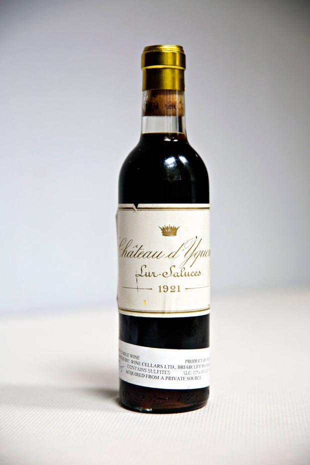Château d'Yquem 1921 is one of the legendary French wines