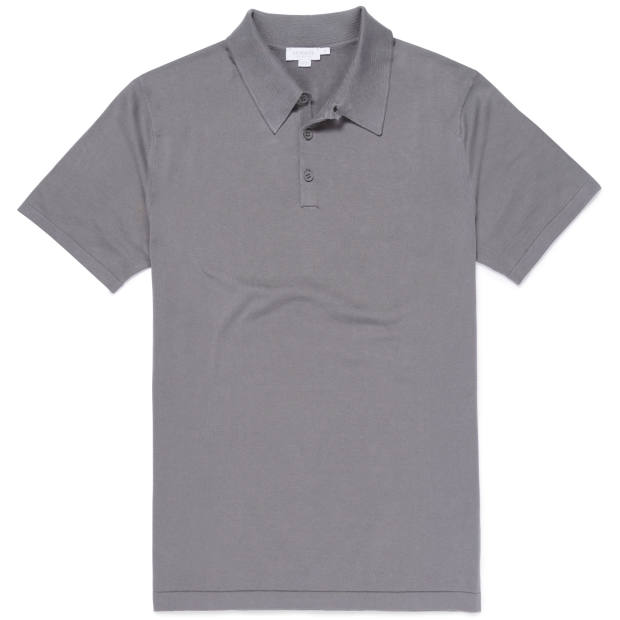 Cotton polo shirt, £185