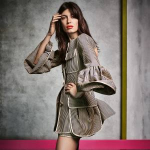 Fendi silk/cotton jacket, £1,740, and matching skirt, price on request