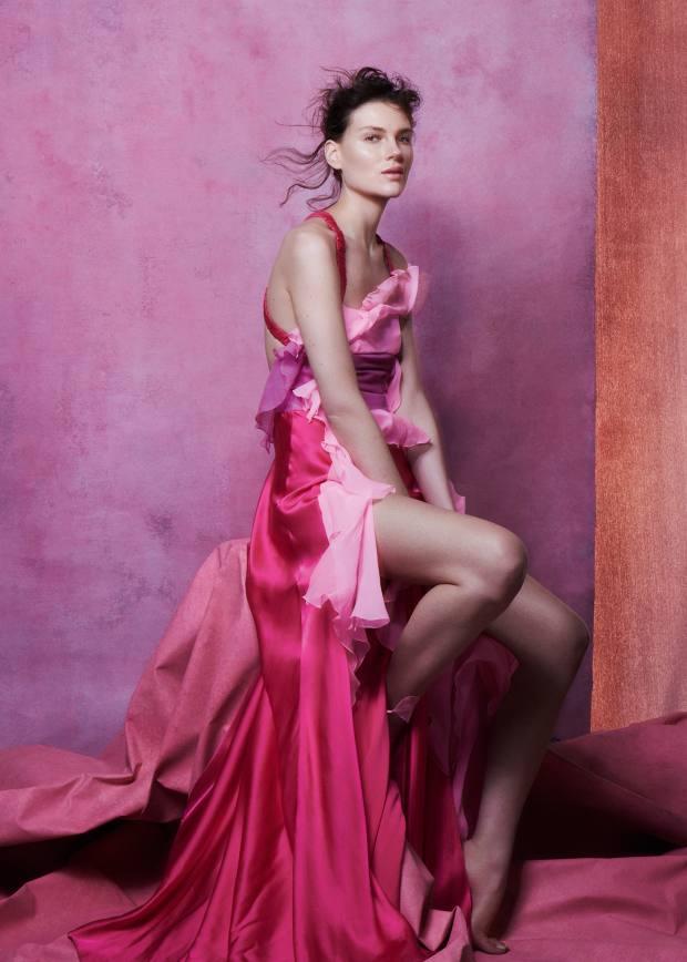 Blumarine satin and chiffon dress, £3,270
