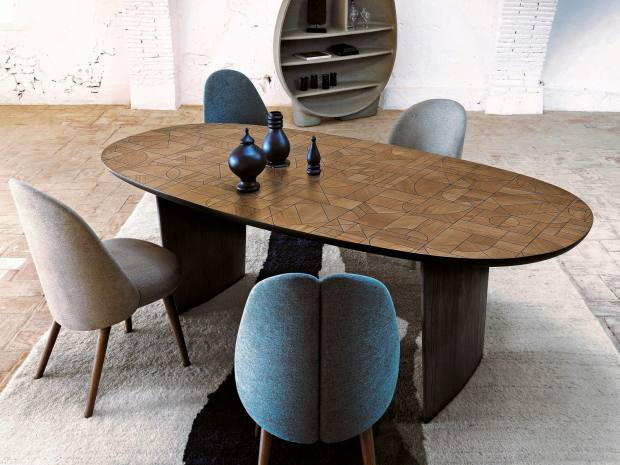 Raphaël Navot for Roche Bobois walnut and linden Patchwork table, £5,920
