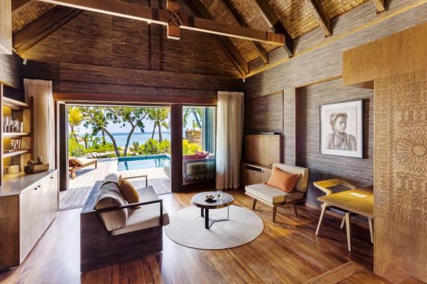 A beachfront villaat Six Senses Fiji, designed by New Zealand architect Richard Priest