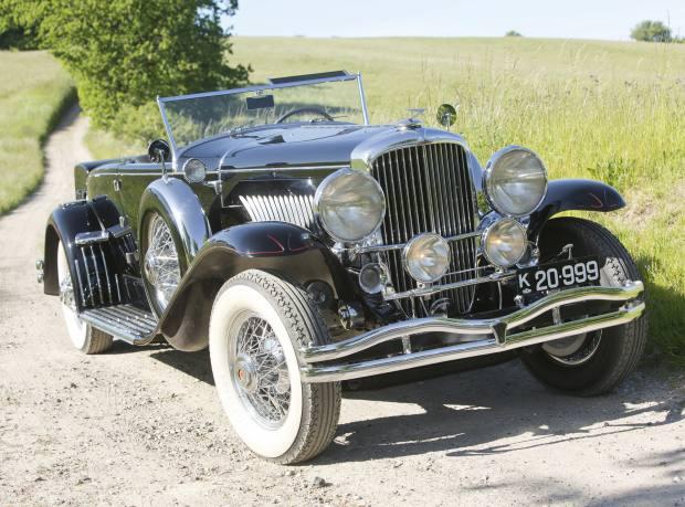 """A 1931 Duesenberg Model J """"Disappearing Top"""" convertible coupé, estimate $2.6-$3.2m"""