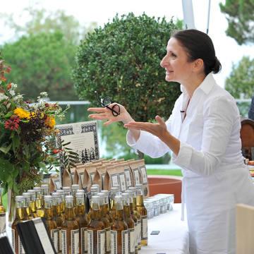 Chef Anne-Sophie Pic at her annual garden market