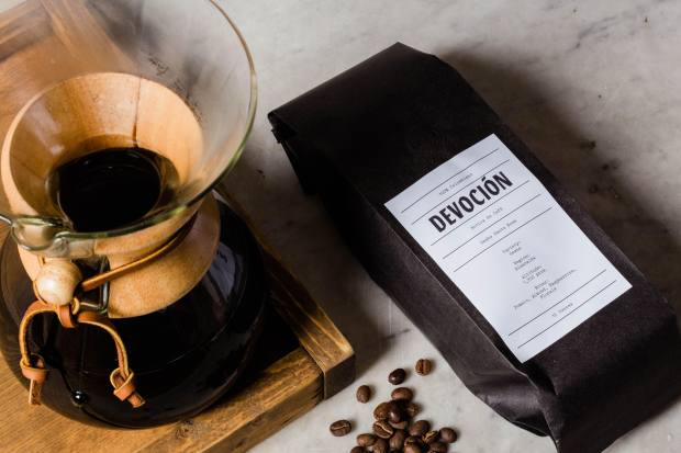 Devoción coffee's artisanal beans are handpicked and dry-milled in Bogotá