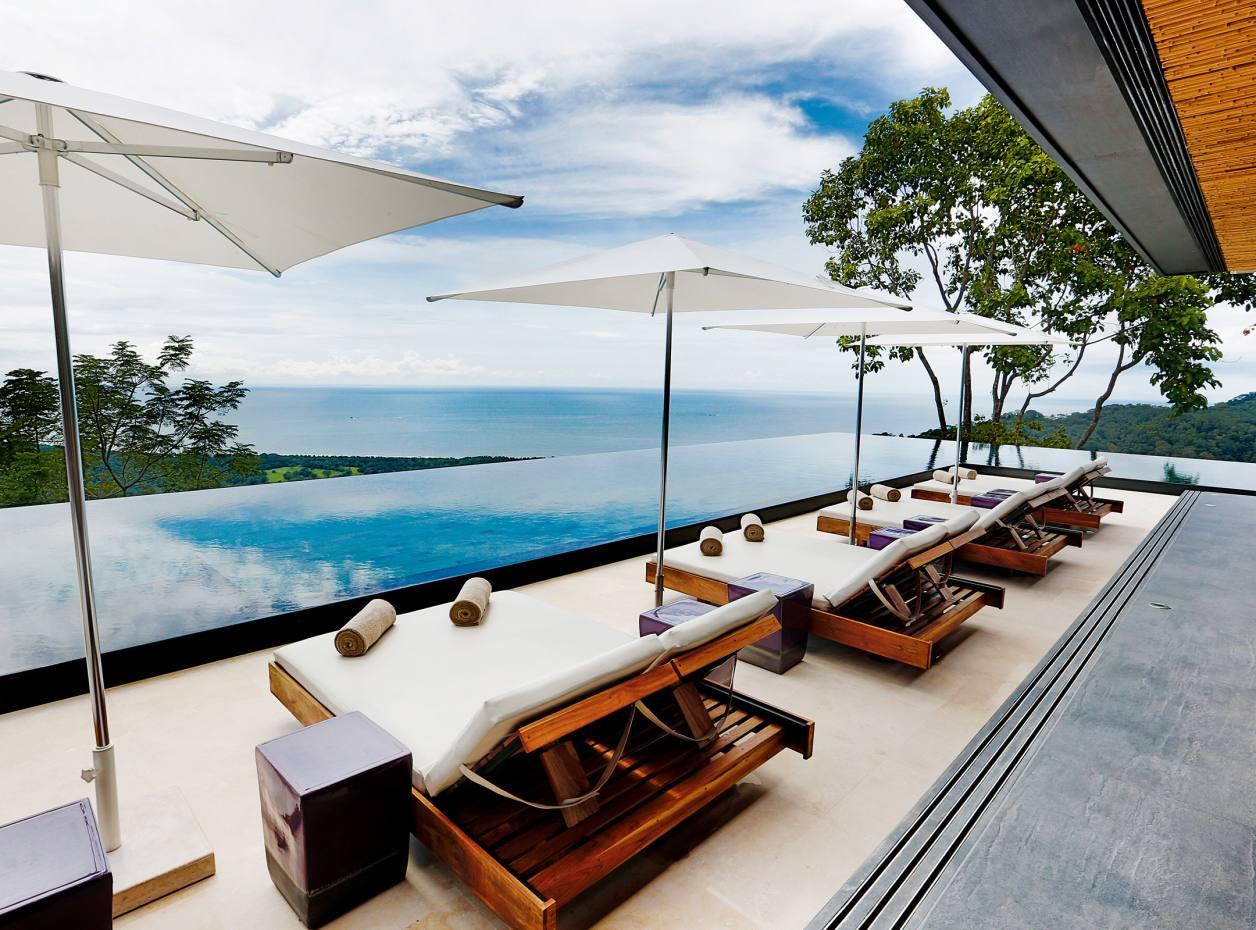 The pool at Kurà Design Villas on the Pacific coast