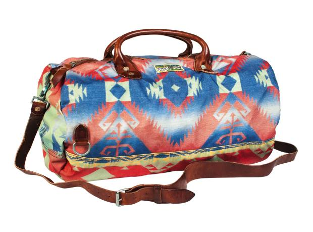 Polo Ralph Lauren nylon twill and leather Beacon Blanket-print duffel bag, £385