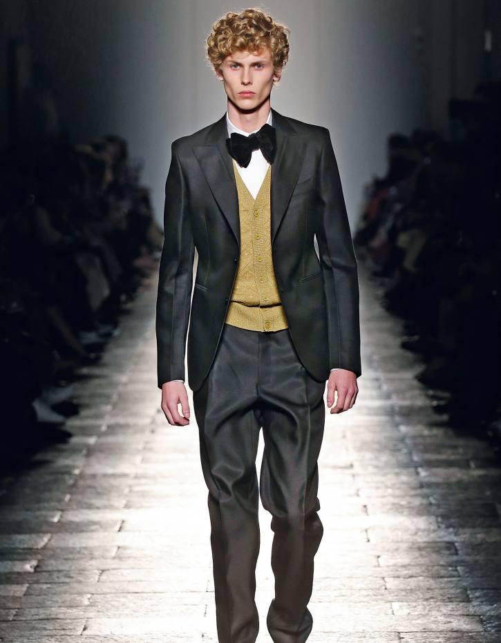 Bottega Veneta wool/silk twill tuxedo, £2,185