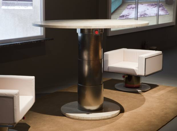 The 01 Lounge Chair and the 05 Round Table