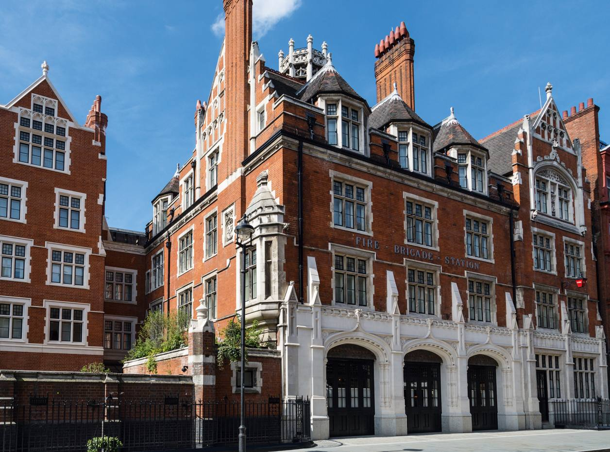 The exterior of the Chiltern Firehouse, which dates from 1888