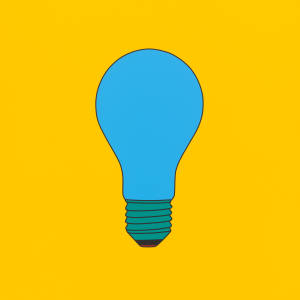 Untitled (Lightbulb Blue) by Michael Craig-Martin (2017)