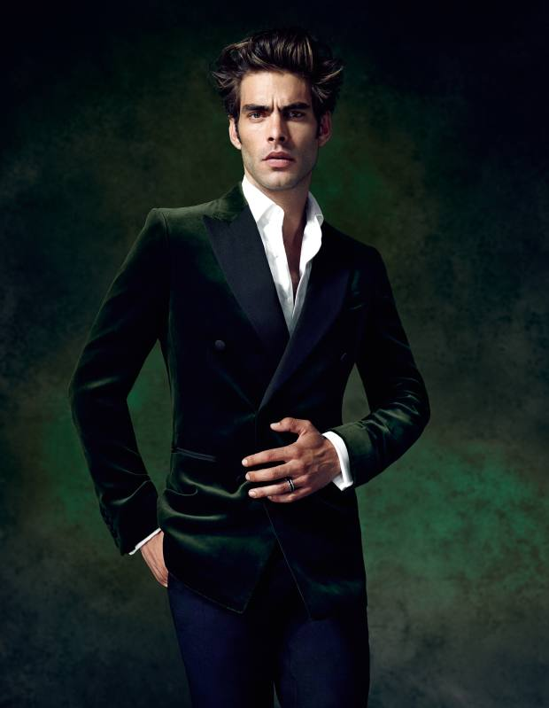 Dunhill bespoke evening jacket, £2,400, bespoke evening trousers, £1,290, and cotton evening shirt, £275** To bid for this suit in aid of Save the Children, visit Christies.com/HTSI. Online auction ends December 11. **