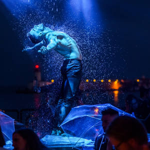 Lío performers such as dancer Carlos Ugarriza (seen here performing Singing in the Rain) will appear at the Ibiza club's six-week London residency
