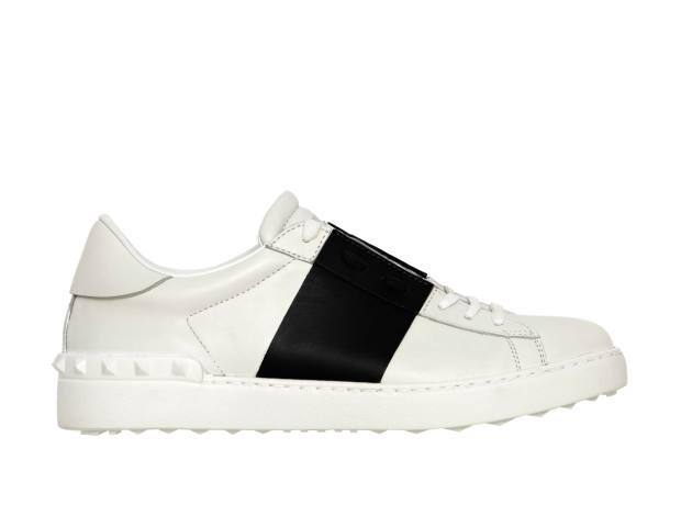 Valentino Garavani calfskin trainers, £410.