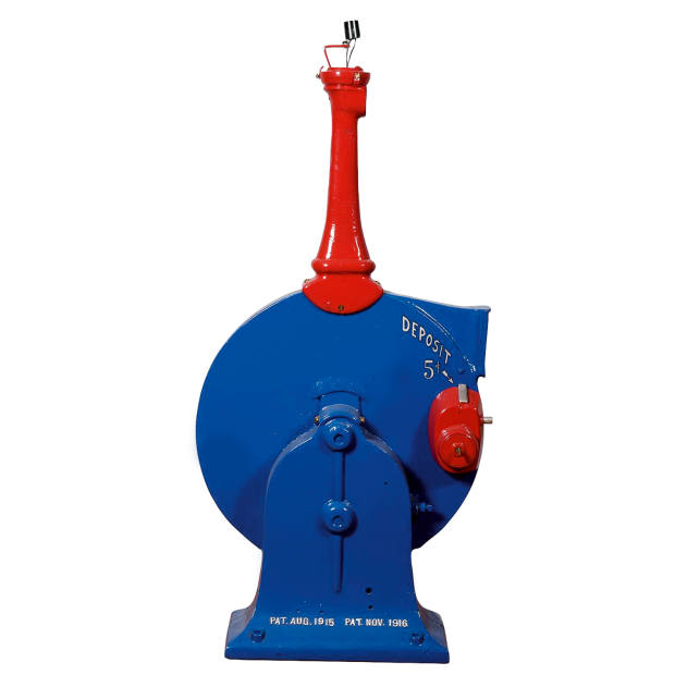 """Eco Air Station """"Pay 5 Cents"""" pump, sold for $12,000 at Morphy Auctions"""