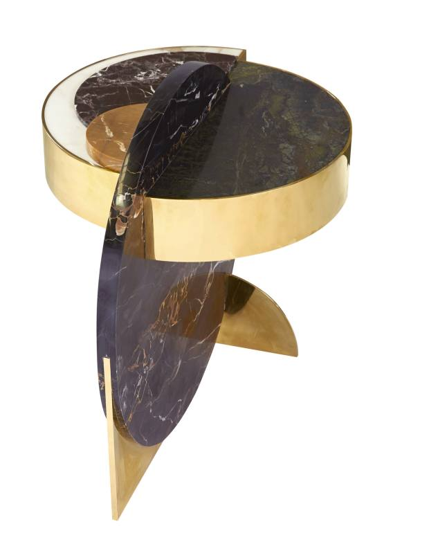 Lapicida Full Moon marble and brass side table by Lara Bohinc, £11,250
