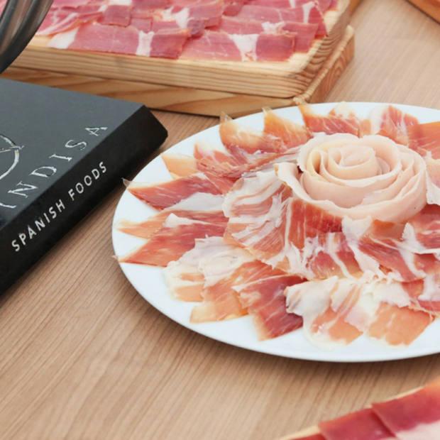 A freshly cut ham palette