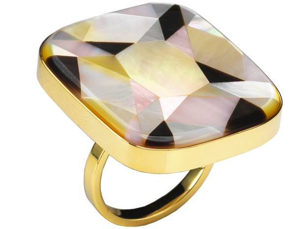 Melanie Georgacopoulos 18ct gold and mother-of-pearl MOP Gemstones ring, £2,800