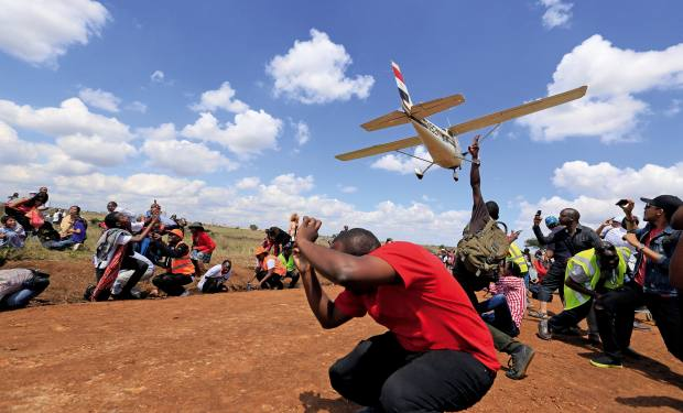 Therally flies over NairobiNational Park