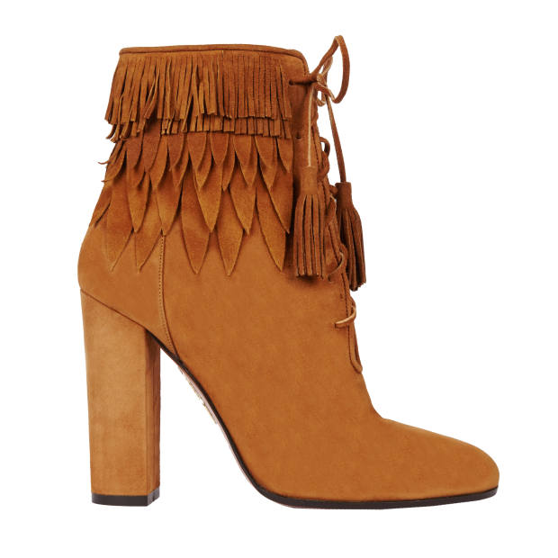 Aquazzura suede Woodstock boots, £680