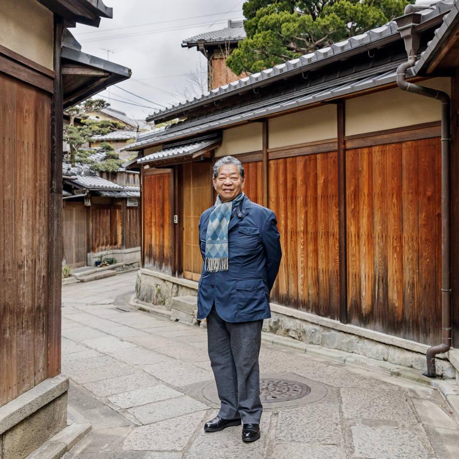 Yoshihiro Murata, in the Higashiyama area, where he walks every weekend between his home in Gion and Kiyomizu-dera Temple