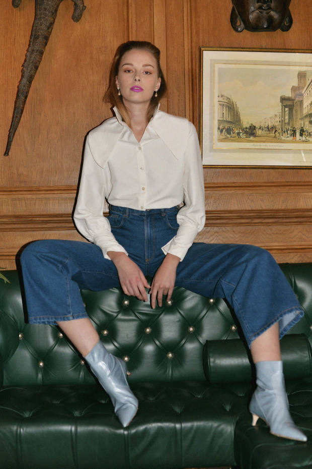 JPL Atelier recycled material Emily Oxford shirt, £295, from Rêve En Vert