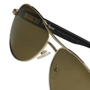 Brioni sunglasses in aluminium with horn arms, from about £550