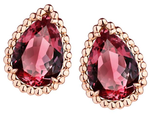 Boucheron rhodolite and rose gold earrings from the Serpent Bohème collection, price on request