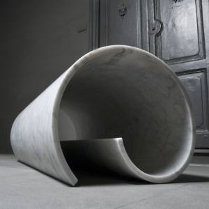 Girella marble bench by Ron Gilad for Salvatori, €24,000