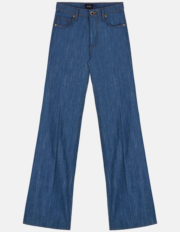 The Catherine jeans have a flattering slightly flared leg and a high-rise cut
