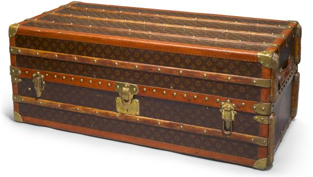 Several vintage Louis Vuitton pieces are included in the sale, including this cocktail bar and humidor customised trunk, £40,000-£50,000