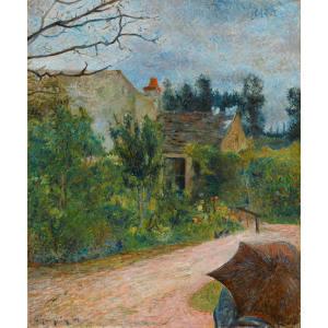 The rarely seen Le Jardin de Pissarro, Quai du Pothuis à Pontoise by Paul Gauguin, estimated at €600,000-€900,000