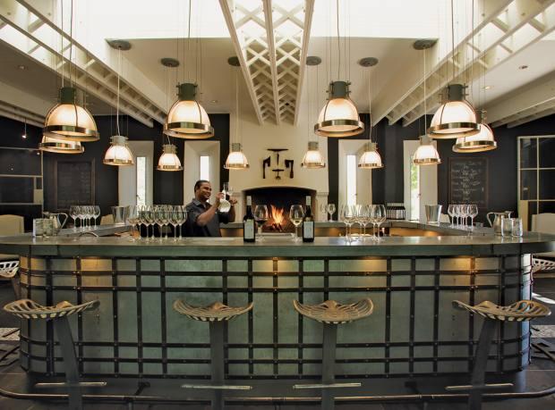 The bar at Grande Provence