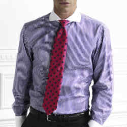 Thomas Pink Stein striped Winchester slimfit shirt with cutaway collar and white collar and cuffs, £89.