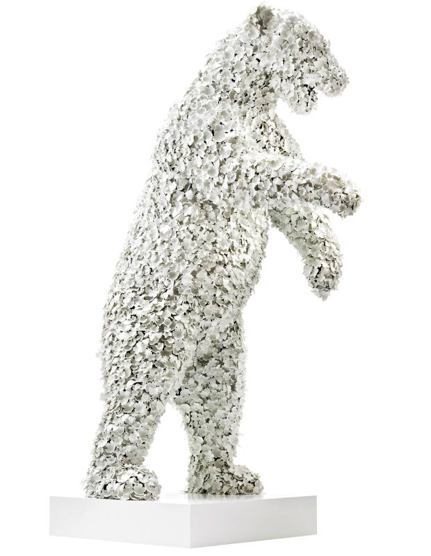 Barnaby Barford porcelain, wood, MDF, epoxy, copper and plastic Polar Bear, price on request