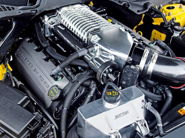 Clive Sutton uses a Whipple supercharger in supertuned versions of theFord Mustang
