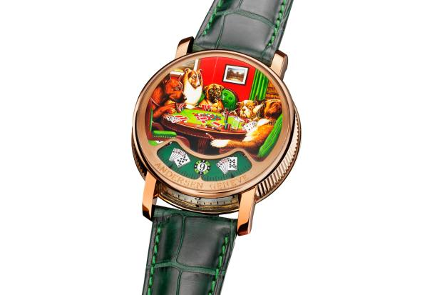Montre à Tact Poker inspired by Cassius Marcellus Coolidge's 1909 painting A Bold Bluff