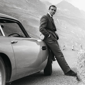 The iconic Aston Martin DB5 was first glimpsed in 1964's Goldfinger, with Sean Connery at the wheel