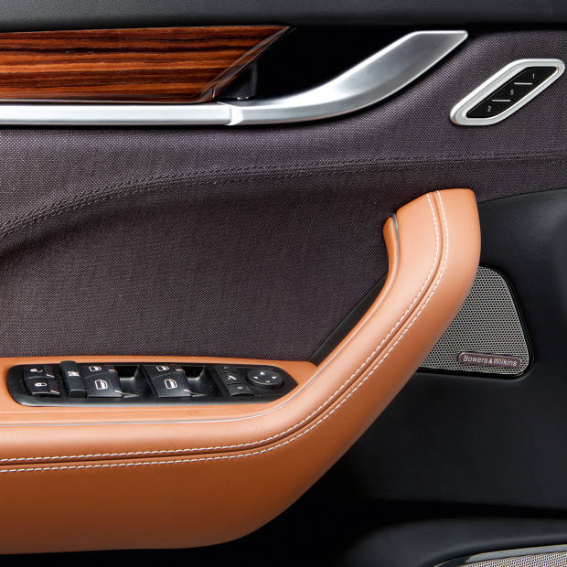 Zegna cloth woven for Maserati interiors, from £4,950