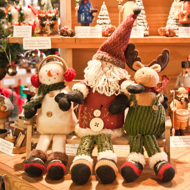 Singing choir of snowman, Santa and reindeer, £46.
