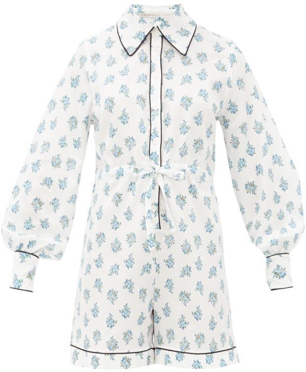 Emilia Wickstead pyjama playsuit, £390, matchesfashion.com