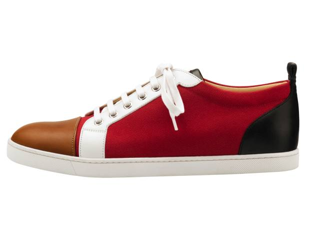 Christian Louboutin leather and canvas Gondolier sneakers, £495