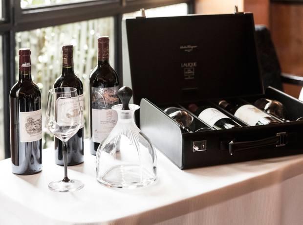 Lalique/Salvatore Ferragamo Black Edition leather wine briefcase, £5,900
