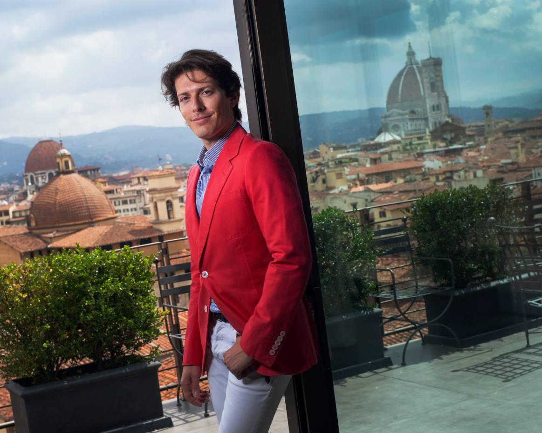 Aquazzura co-founder and creative director Edgardo Osorio in Florence