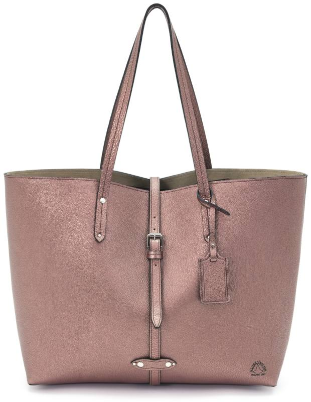 Globe-Trotter leather Centenary Bowling Bag in rose gold, £1,045