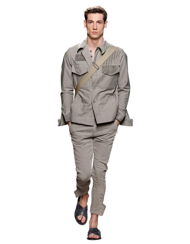Bottega Veneta gabardine, shearling and corduroy jacket, £1,365