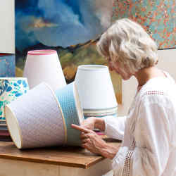 Rosi de Ruig's made-to-order lampshades take four to six weeks to create