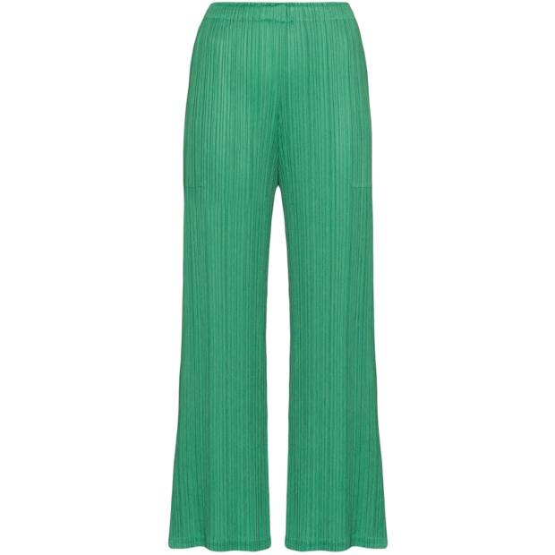 Pleats Please Issey Miyake polyester trousers, £345, brownsfashion.com