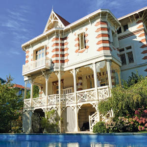 A seven-bedroom, late-19th-century villa in Arcachon with a large garden and pool, €3.99m through Coldwell Banker